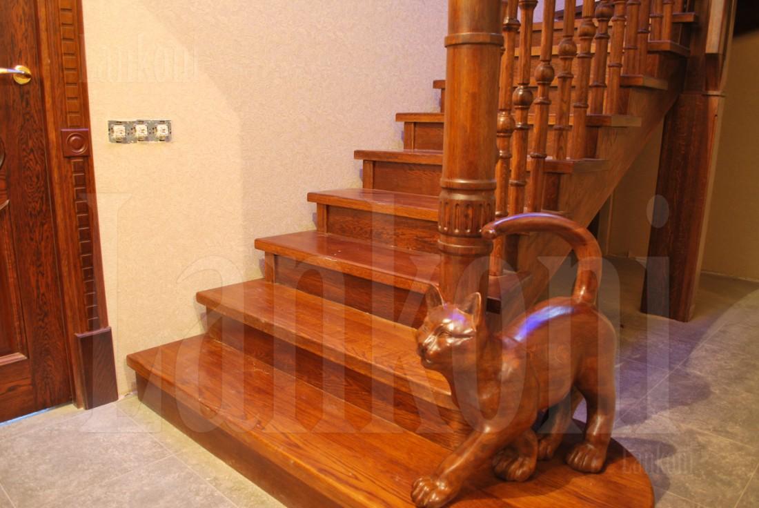 Лестница с котом