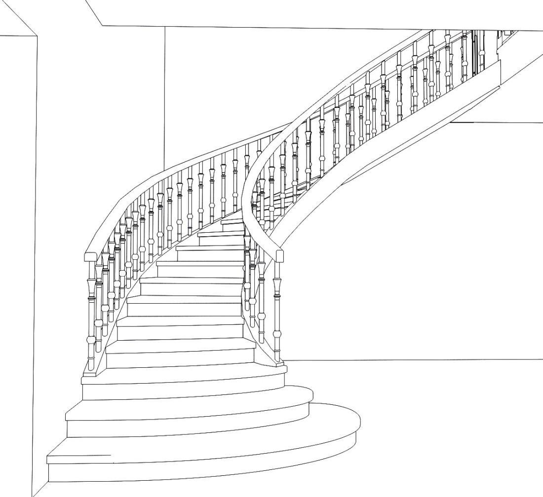 Спиральная лестница в фамильном доме